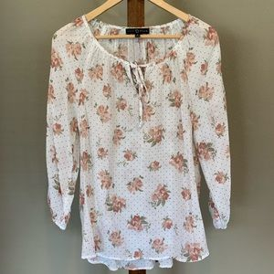 Fred David Flowy Floral Blouse